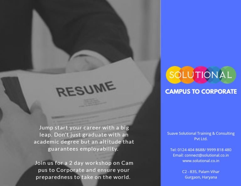 Campus To Corporate offered by Suave Solutional